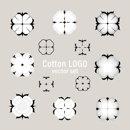 Cotton vector set