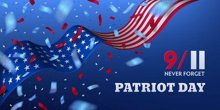 USA Patriot day horizontal banner