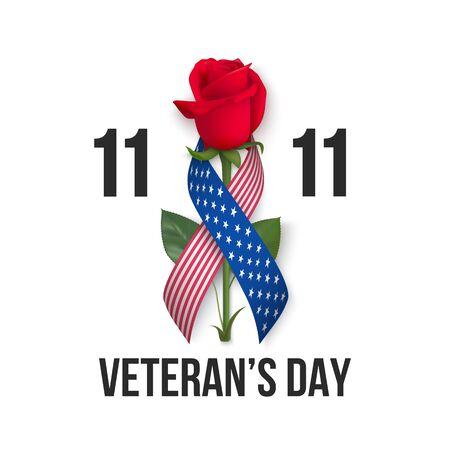 USA Veterans day card