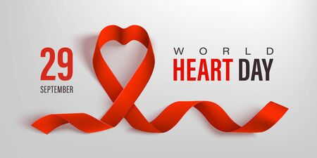 World heart day banner. Healthcare vector design.