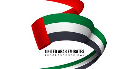 United Arab Emirates independence day card with ribbon