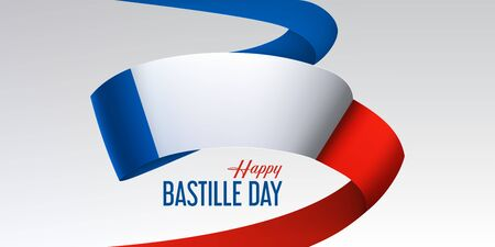 Bastille day banner with national France flag Archivio Fotografico - 142129619
