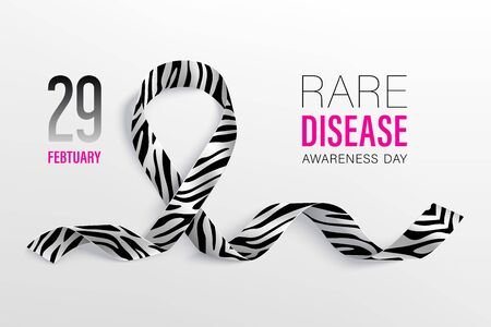World Rare Disease Day poster with ribbon
