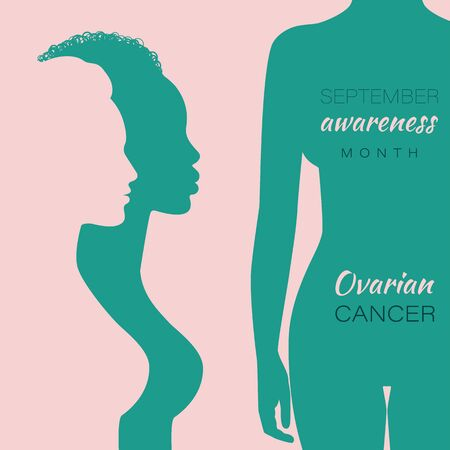 Ovarian Cancer awareness month vector banner 矢量图像