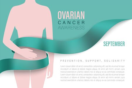 Ovarian Cancer awareness month vector banner Archivio Fotografico - 149480386