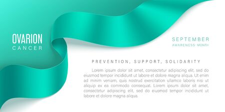 Ovarian Cancer awareness month vector banner Archivio Fotografico - 149828415