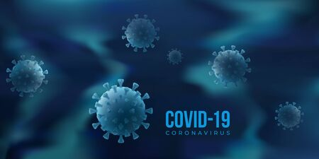 Covid 19 vector poster with virus Archivio Fotografico - 149828417