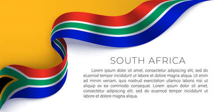 South Africa horizontal banner with national flag.