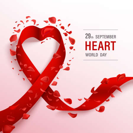World heart day banner. Healthcare vector design.
