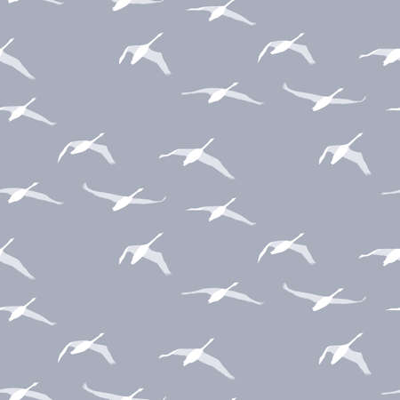Seamless pattern with swallow birds 向量圖像