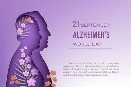 Alzheimer s world day horizontal banner