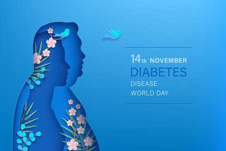 World diabetes day horizontal banner