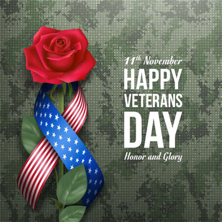 USA Veterans day card