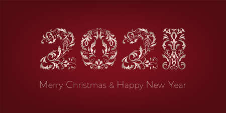 Merry Christmas and Happy New Year greeting card Archivio Fotografico - 157397066