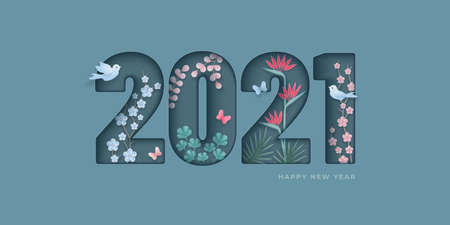 2021 Happy new year greeting card Vettoriali