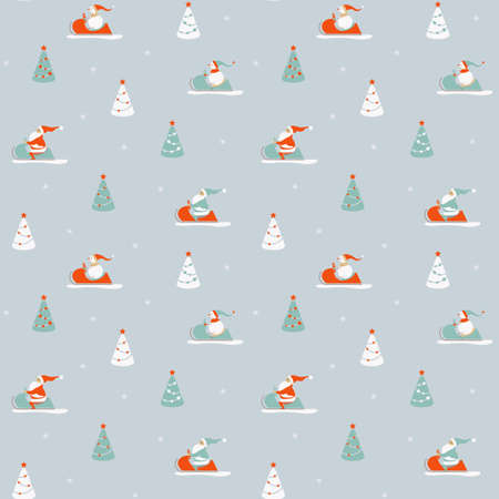 Winter seamless pattern Archivio Fotografico - 158890690