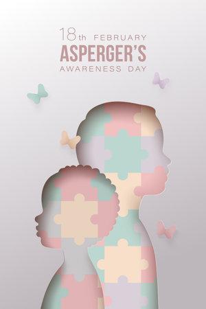 International aspergers awareness day concept