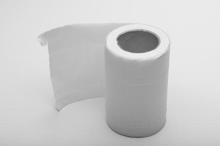 toilet: toilet paper Stock Photo