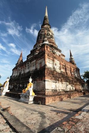 Pagoda in Wat Yaichaimongkol Ayutthaya Stock Photo - 17524875