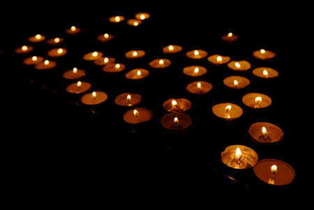 Festive lights have many candles on a black background, Diwali, Holi, the feast of Fire.