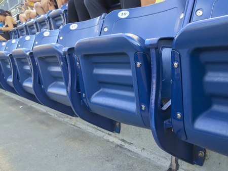 blue stadum seats really tro be used at a game or event