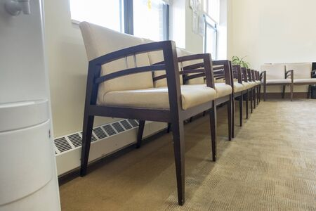 waiting room chairs physicians office hospital room Archivio Fotografico