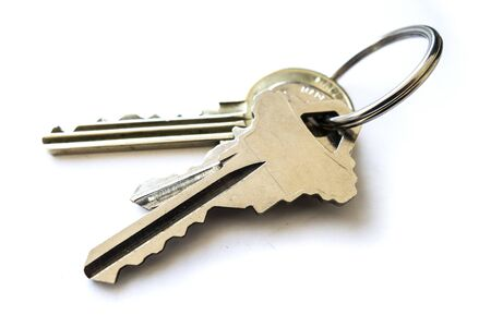steel key ring with a set of keys