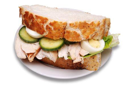 sandwich au poulet: Sandwich au poulet r�ti
