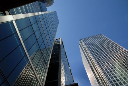 glass building: London financial district. Stock Photo