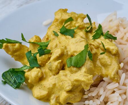chicken curry with rice homemade