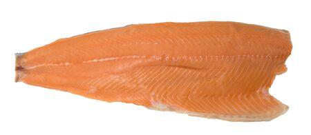 salmon loin on white Stock fotó