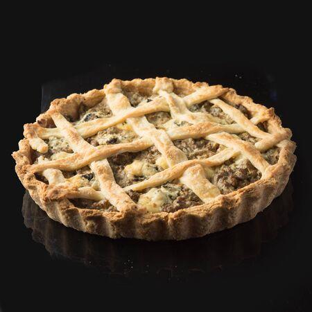 pie on black uncut
