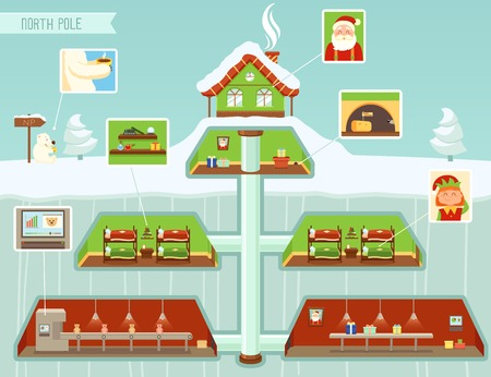 workshop: Christmas design elements, North Pole Illustration Illustration