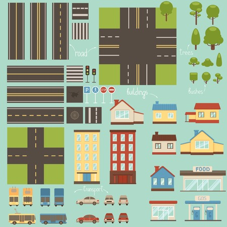 Collection of city design elements Vector