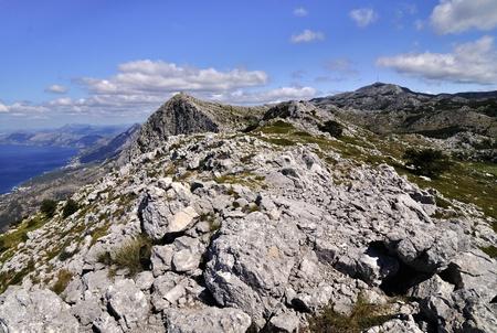 jure: Biokovo Mountain with sveti jure peak Stock Photo