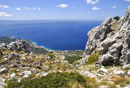 The town Tucepy in The croatia, View of The National park Biokovo.  photo
