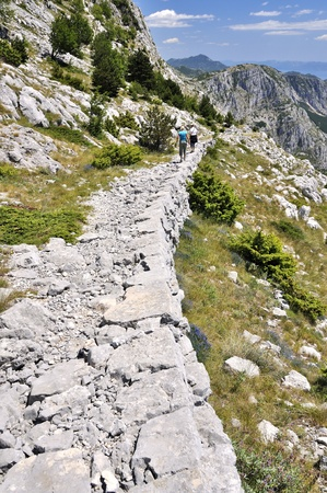Way in The National park Biokovo - Croatia. Stock Photo