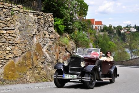 praga: KRIVONOSKA - MAY 5: 1929 PRAGA PICCOLO on Car Competition during 42th Czech Veteran Rallye. May 5, 2012 in Bechyne, Czech Republic. Editorial
