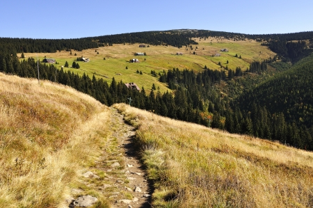Valley in the national park Krkonose Czech photo