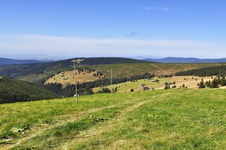 krkonose: chalet in the national park Krkonose Czech Stock Photo