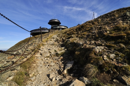 Hill Snezka in the national park Krkonose Stock Photo - 18145221