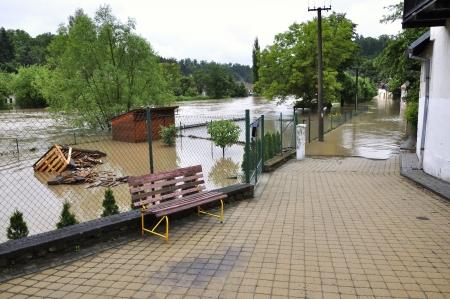 immobilien: Flooding river Luznice, Czech Republic, village - Bechyne