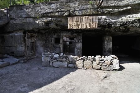 dwellings: cliff dwellings - entry, Brhlovce Slovakia