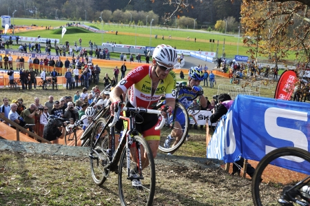 bina: TABOR, CZECH REPUBLIC - OCTOBER 26, BINA Martin 30 in Cyclo-cross race UCI WORLD CUP Men ELITE on October 26, 2013 in Tabor, Czech Republic