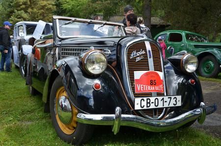 speedster: KRIVONOSKA - MAY 10: 1939 SKODA Popular on Car Competition during Czech Veteran Rallye. May 10, 2014 in Krivonoska, Czech Republic. Editorial