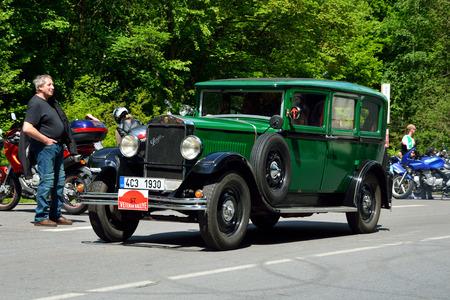 praga: KRIVONOSKA - MAY 10: 1930 PRAGA Alfa on Car Competition during Czech Veteran Rallye. May 10, 2014 in Krivonoska, Czech Republic.