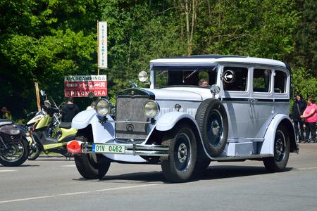 praga: KRIVONOSKA - MAY 10: 1929 PRAGA Grand 8 on Car Competition during Czech Veteran Rallye. May 10, 2014 in Krivonoska, Czech Republic. Editorial
