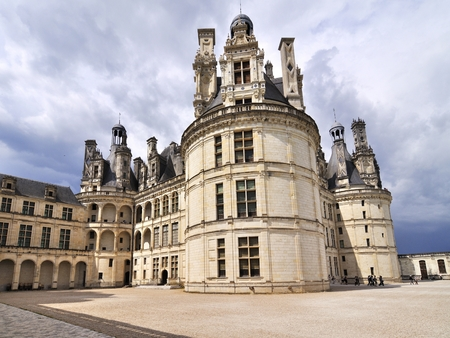 CHAMBORD,FRANCE-JUNE 2013: View on the castle before a thunderstorm