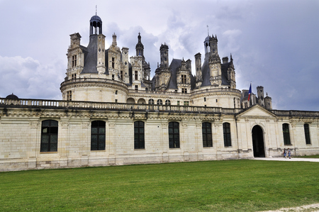 The Chateau de Chambord, royal medieval castle, France.