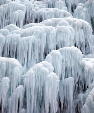 e u: Icicies on waterfall